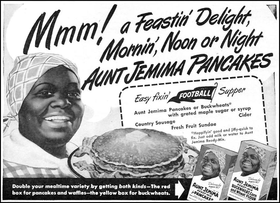 AUNT JEMIMA READY-MIX FOR PANCAKES WOMAN'S DAY 10/01/1946 p. 13