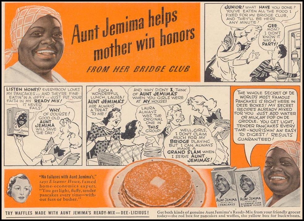 AUNT JEMIMA WOMAN'S DAY 11/01/1940 p. 53