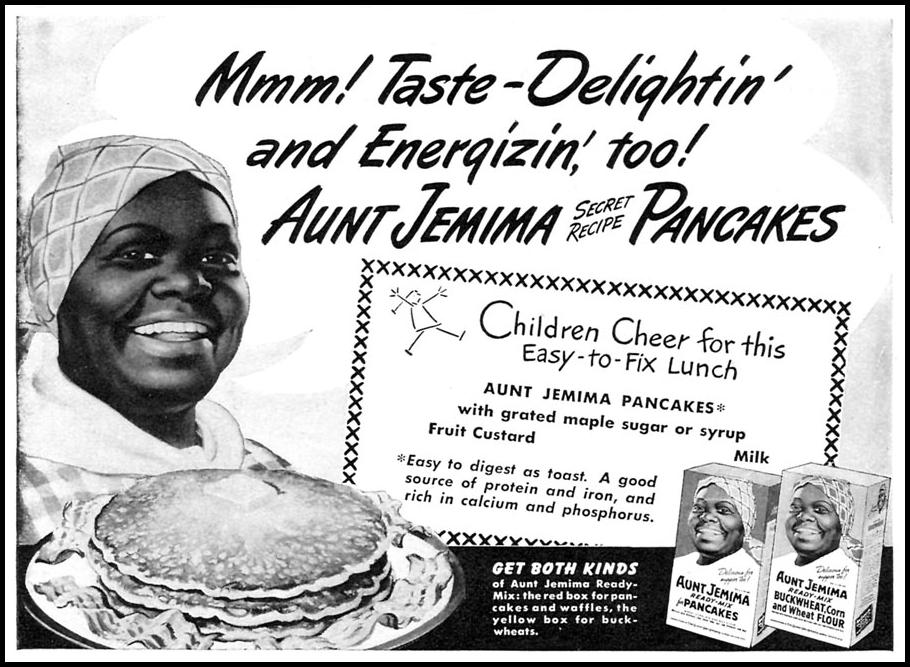 AUNT JEMIMA READY-MIX FOR PANCAKES WOMAN'S DAY 11/01/1946 p. 77