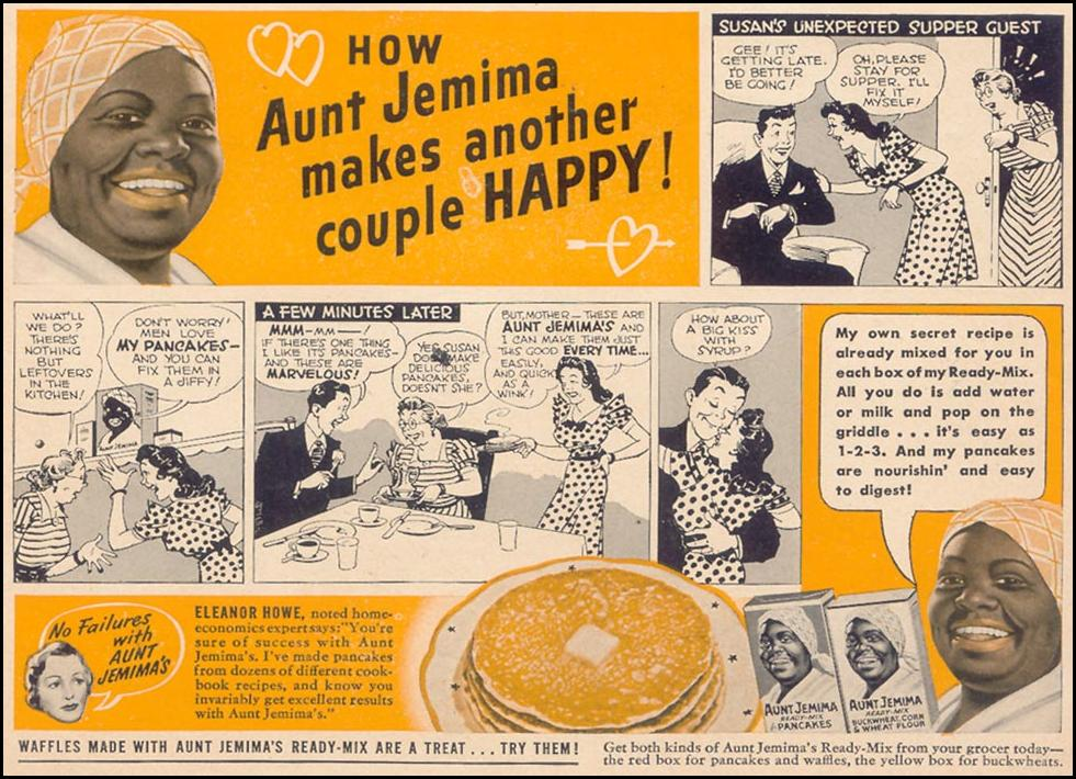 AUNT JEMIMA READY-MIX PANCAKES WOMAN'S DAY 12/01/1940 p. 55