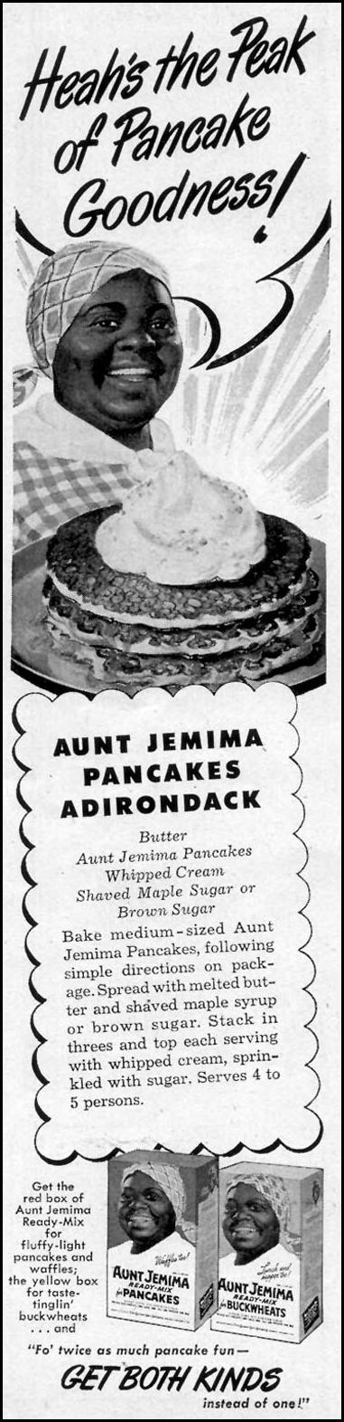 AUNT JEMIMA READY-MIX PANCAKES WOMAN'S DAY 12/01/1949 p. 2