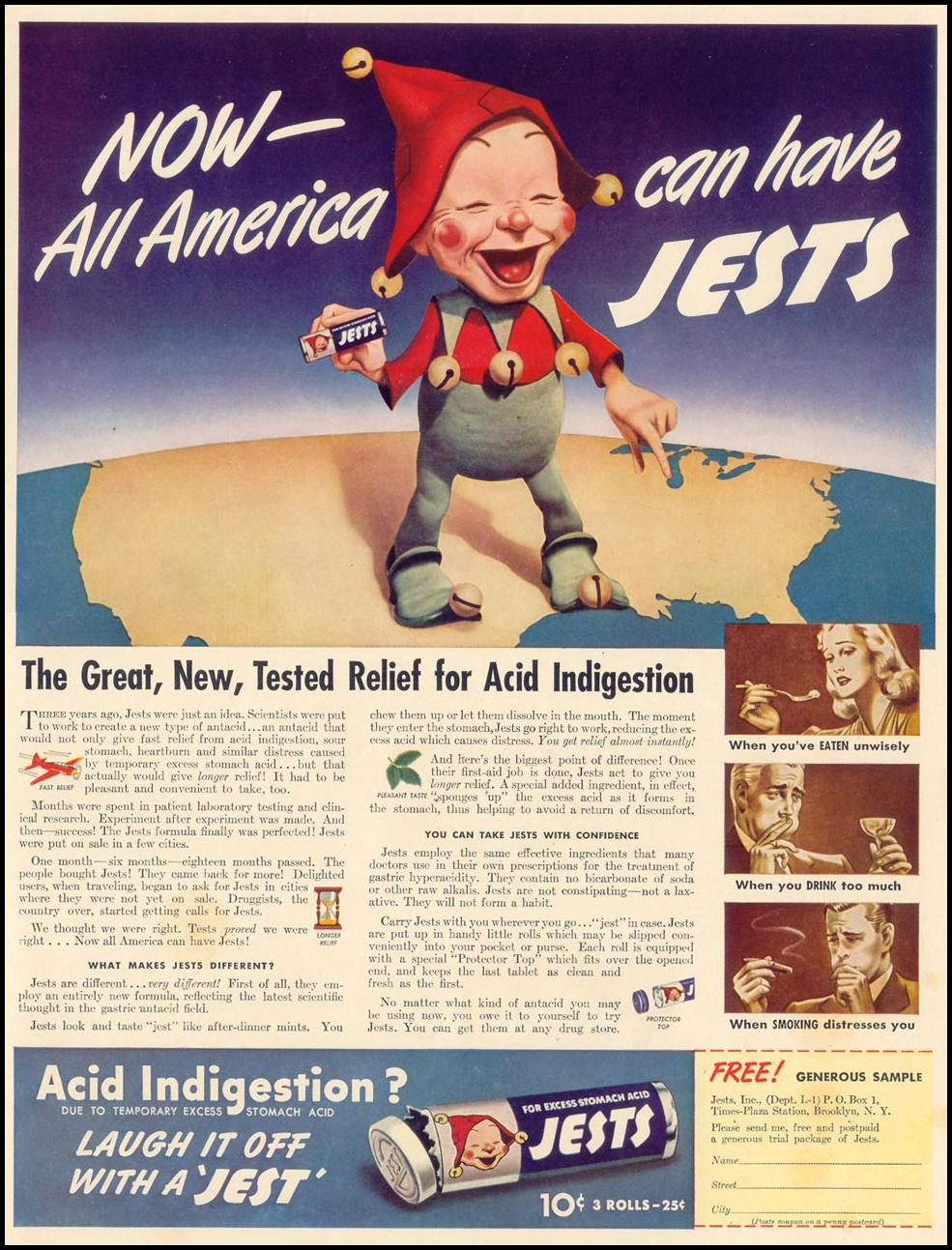 JESTS ANTACID LIFE 09/30/1940