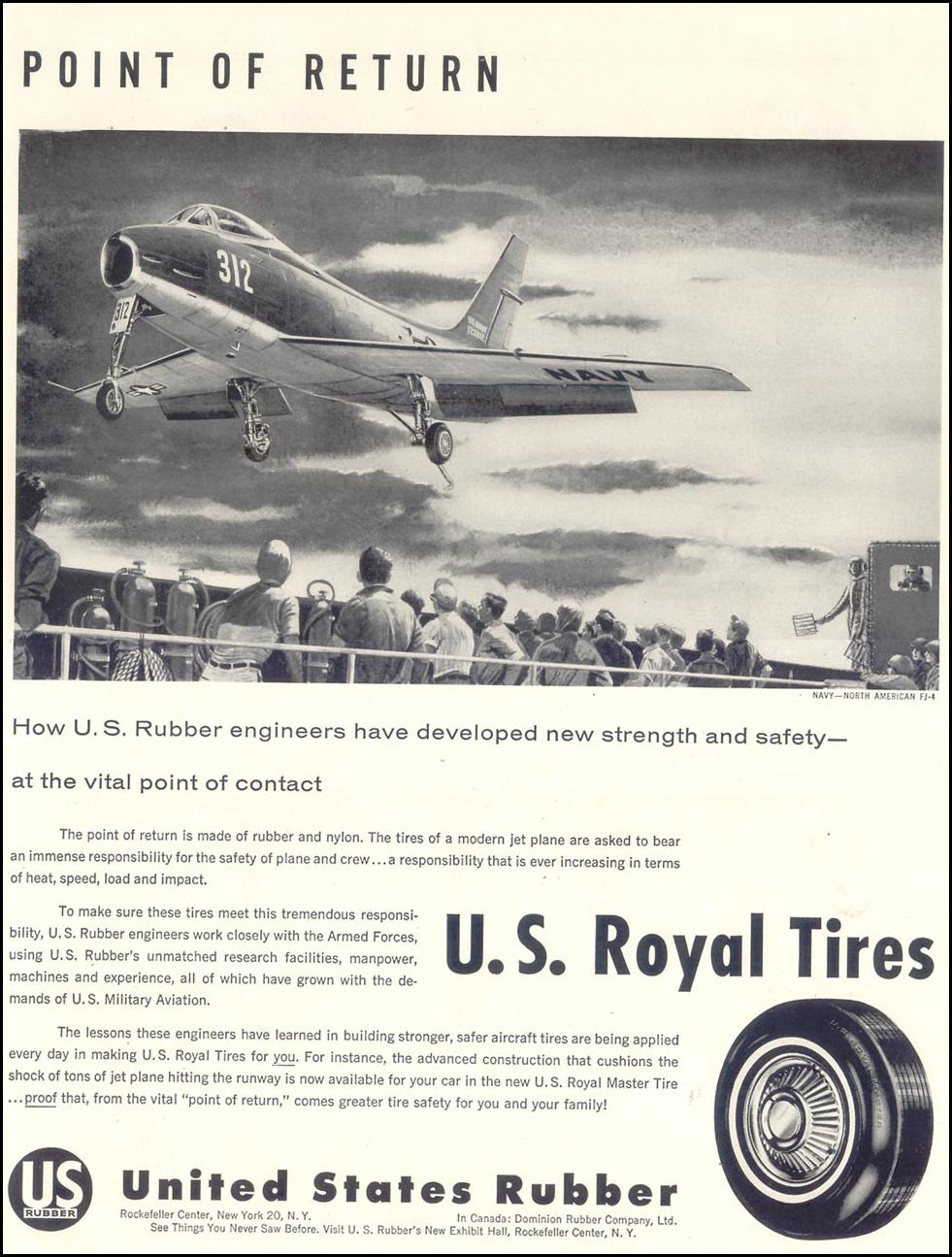 U. S. ROYAL TIRES LIFE 11/11/1957 p. 7
