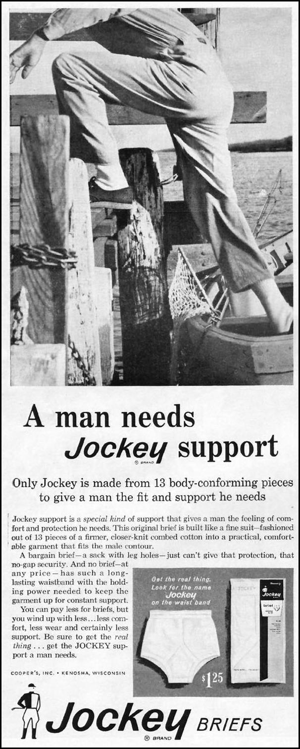 JOCKEY BRAND UNDERWEAR LIFE 03/31/1961 p. 68