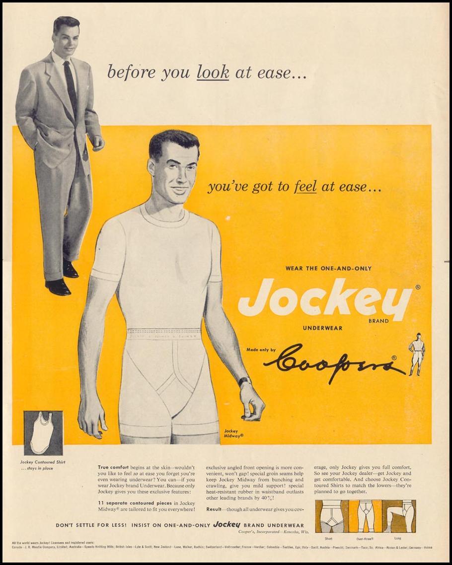 JOCKEY BRAND UNDERWEAR LIFE 10/13/1952 p. 107