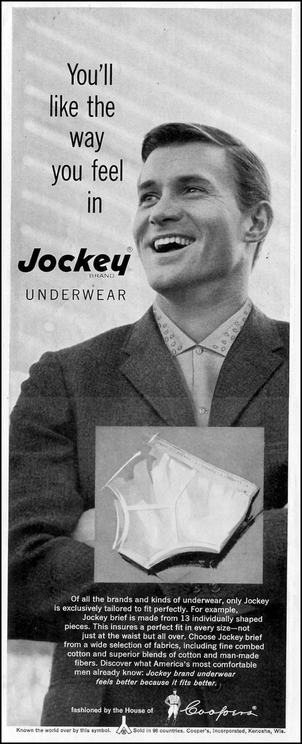 JOCKEY BRAND UNDERWEAR SATURDAY EVENING POST 08/15/1959 p. 4