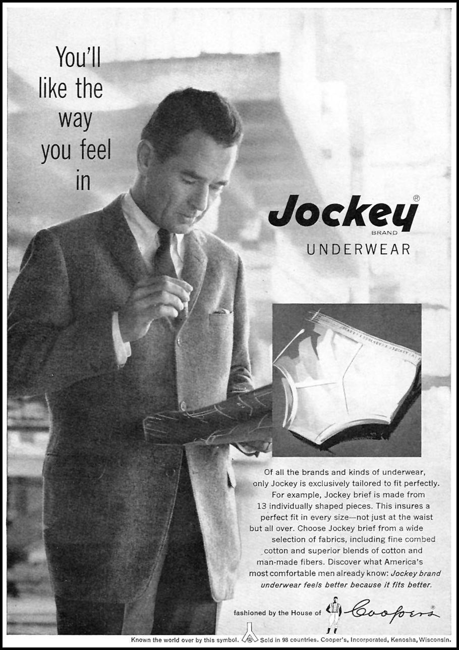 JOCKEY BRAND UNDERWEAR SPORTS ILLUSTRATED 05/25/1959 p. 60