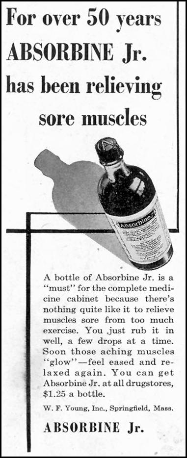 ABSORBINE JR. SATURDAY EVENING POST 05/19/1945 p. 104