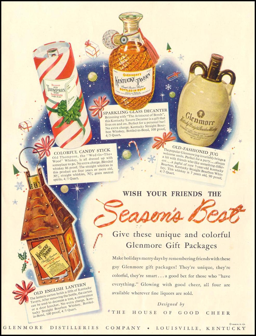 GLENMORE GIFT PACKAGES LIFE 11/15/1948