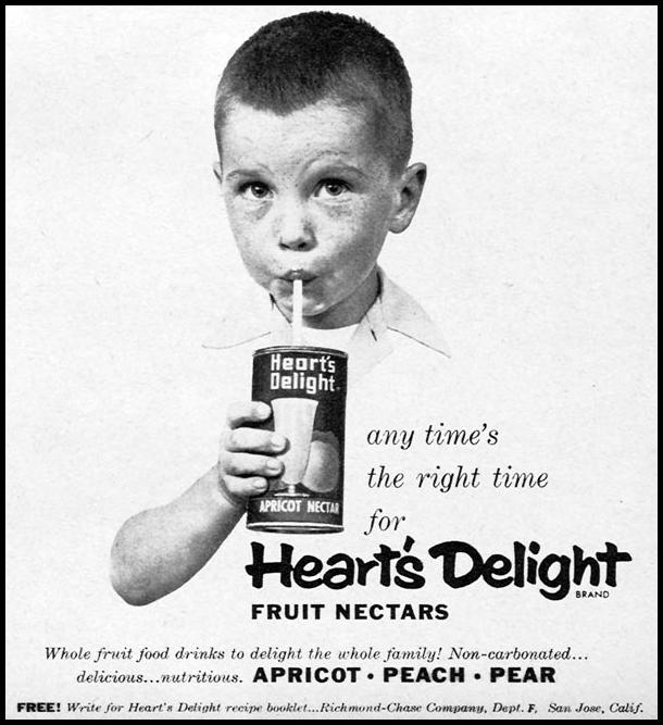 HEART'S DELIGHT FRUIT NECTARS FAMILY CIRCLE 02/01/1956 p. 49