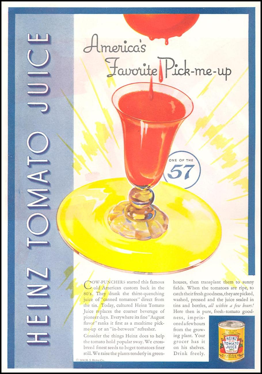 HEINZ TOMATO JUICE GOOD HOUSEKEEPING 04/01/1936