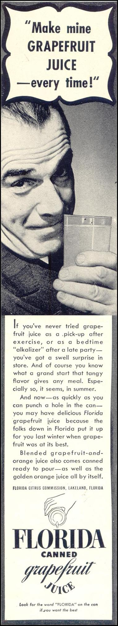 FLORIDA CANNED GRAPEFRUIT JUICE LIFE 07/24/1939 p. 73