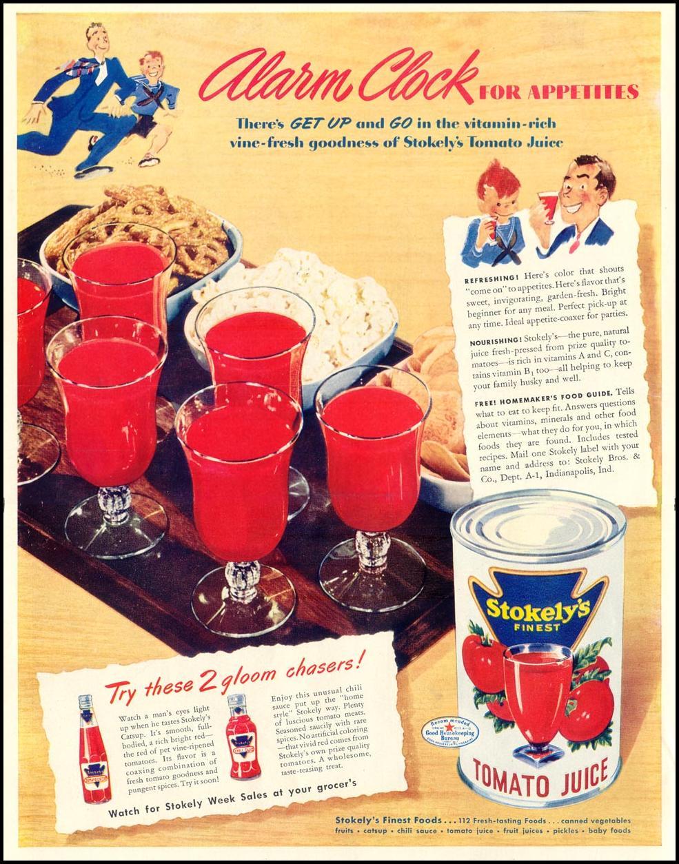STOKELY'S FINEST TOMATO JUICE LIFE 10/13/1941