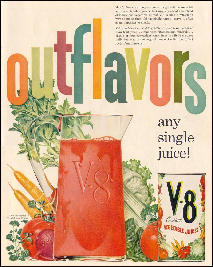V-8 VEGETABLE JUICE COCKTAIL LIFE 12/14/1959 p. 37