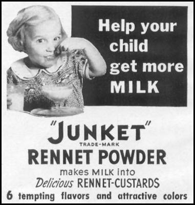 JUNKET RENNET POWDER WOMAN'S DAY 04/01/1941 p. 54