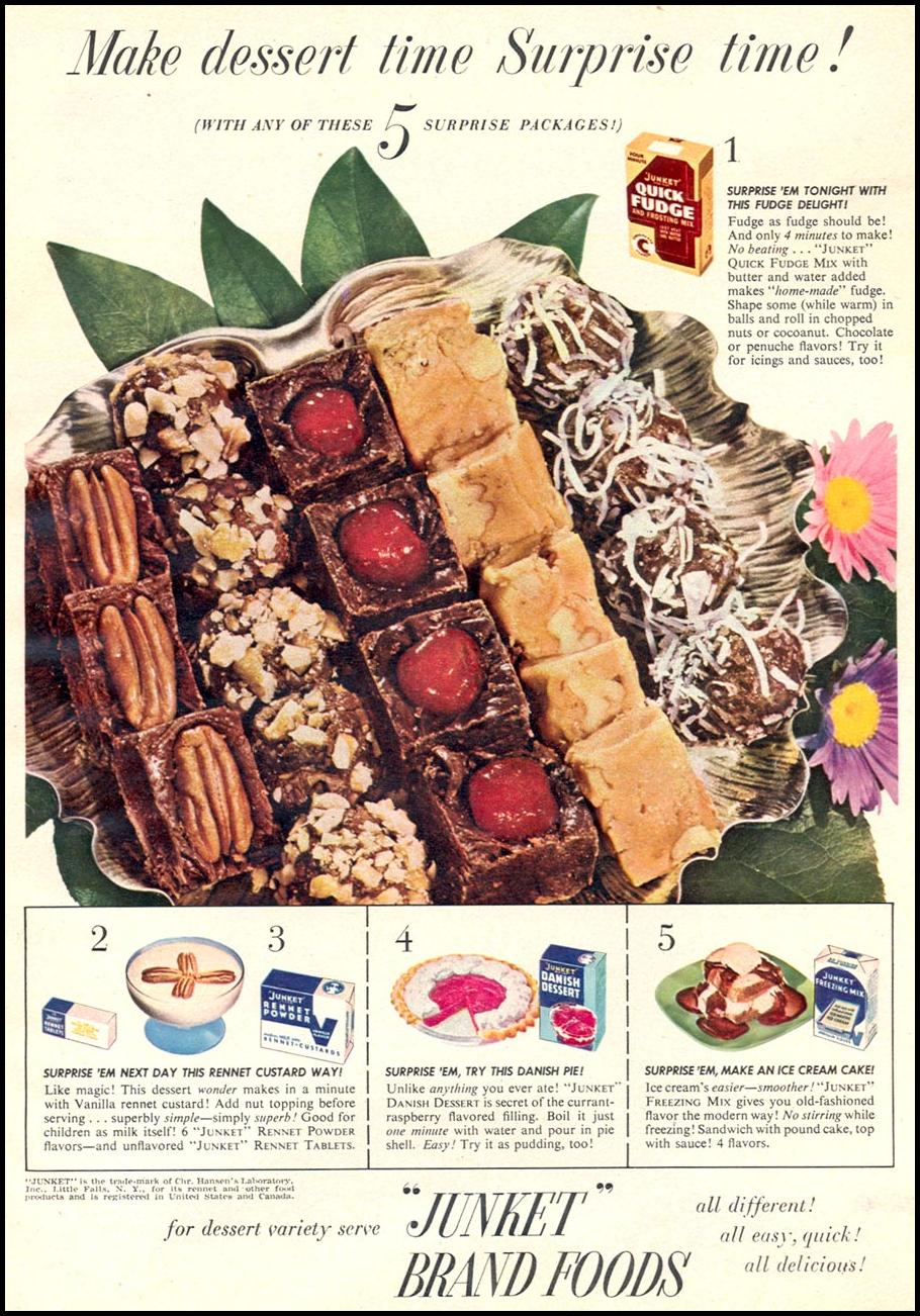 JUNKET BRAND FOODS WOMAN'S DAY 12/01/1948 p. 9