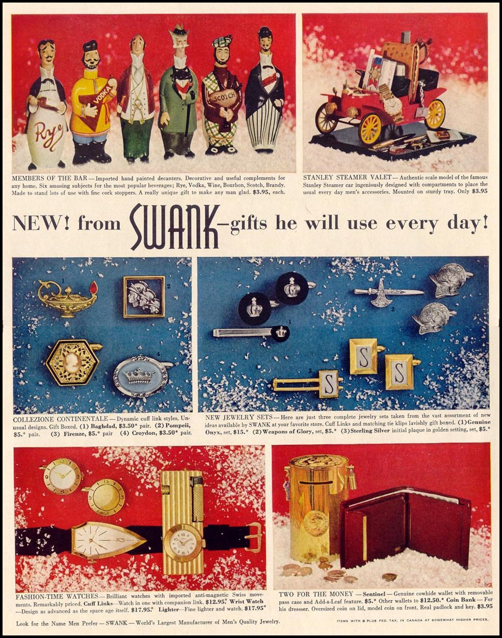 SWANK MEN'S JEWELERY LIFE 12/14/1959 p. 48