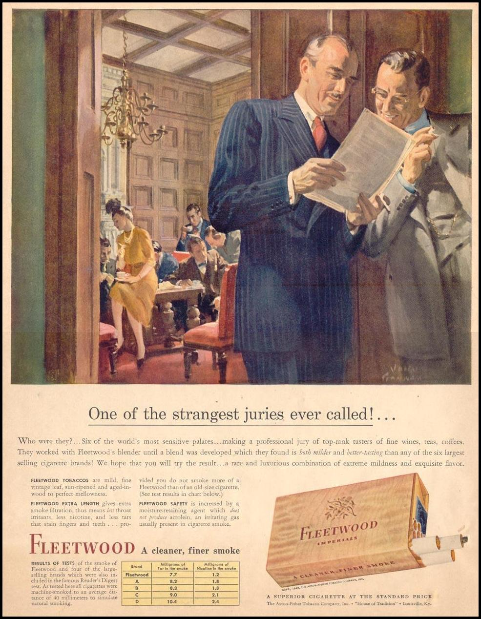 FLEETWOOD CIGARETTES LIFE 05/24/1943