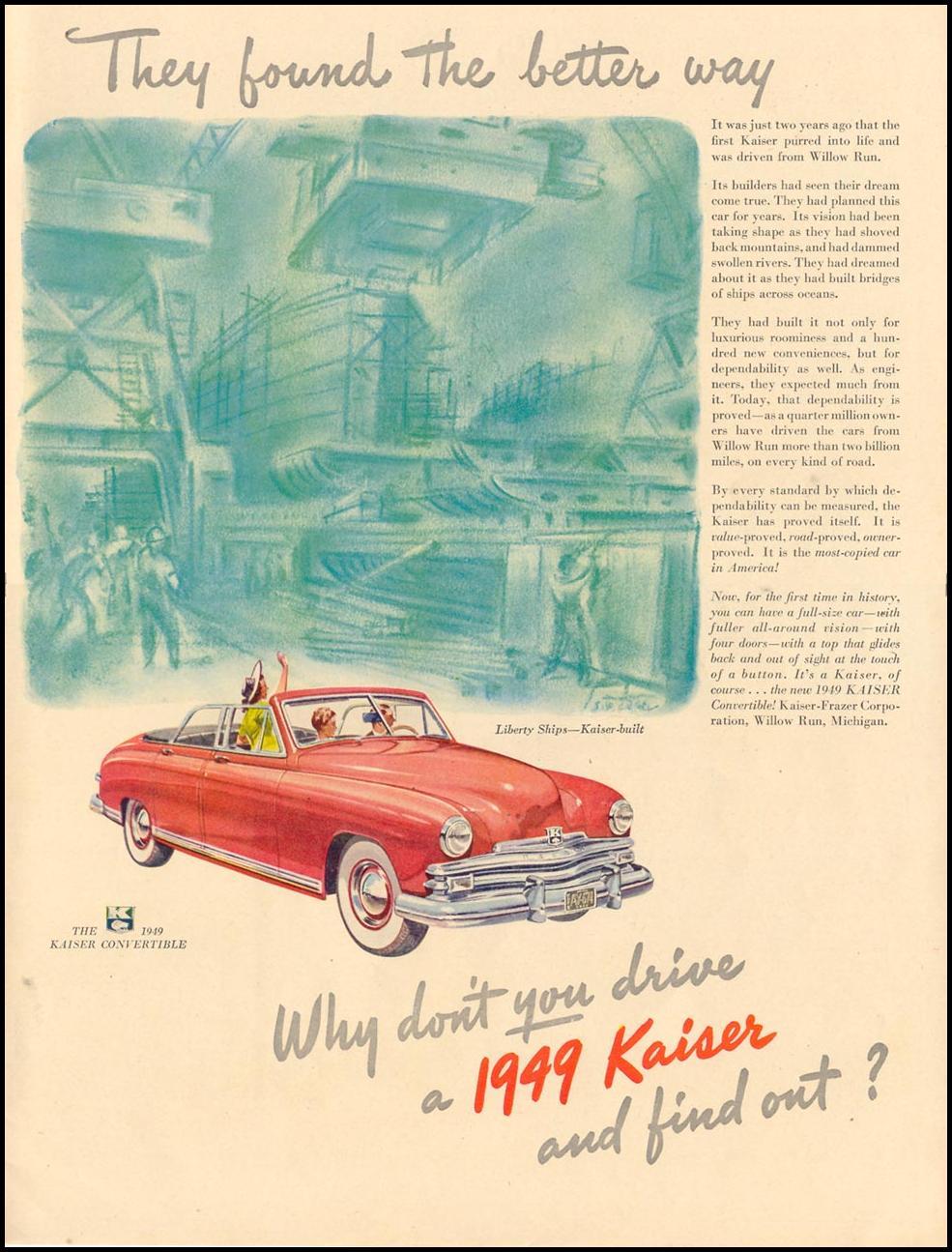 KAISER AUTOMOBILES LIFE 11/15/1948