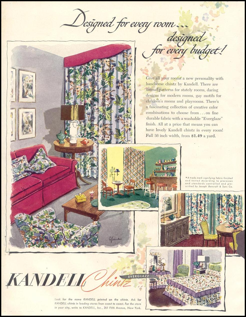 KANDELL CHINTZ GOOD HOUSEKEEPING 07/01/1948