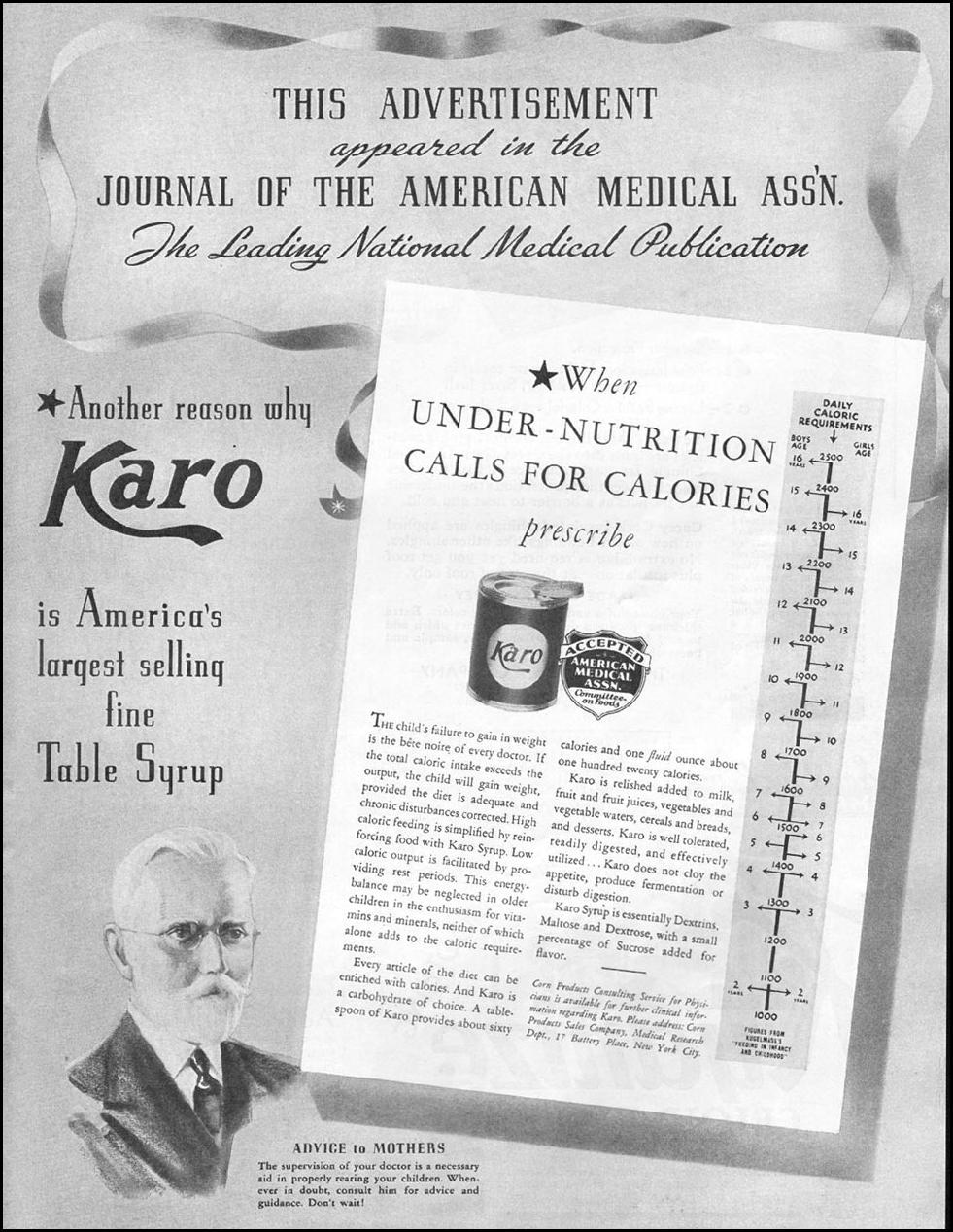KARO SYRUP BETTER HOMES AND GARDENS 05/01/1936 p. 62