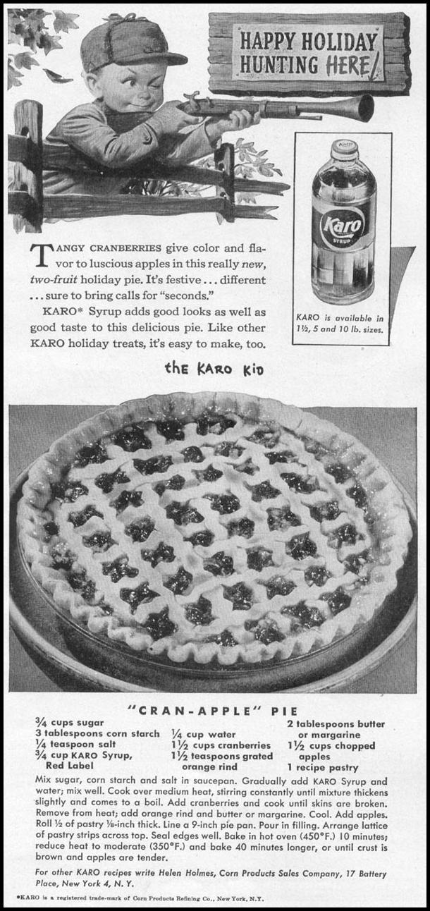 KARO SYRUP WOMAN'S DAY 12/01/1948 p. 101
