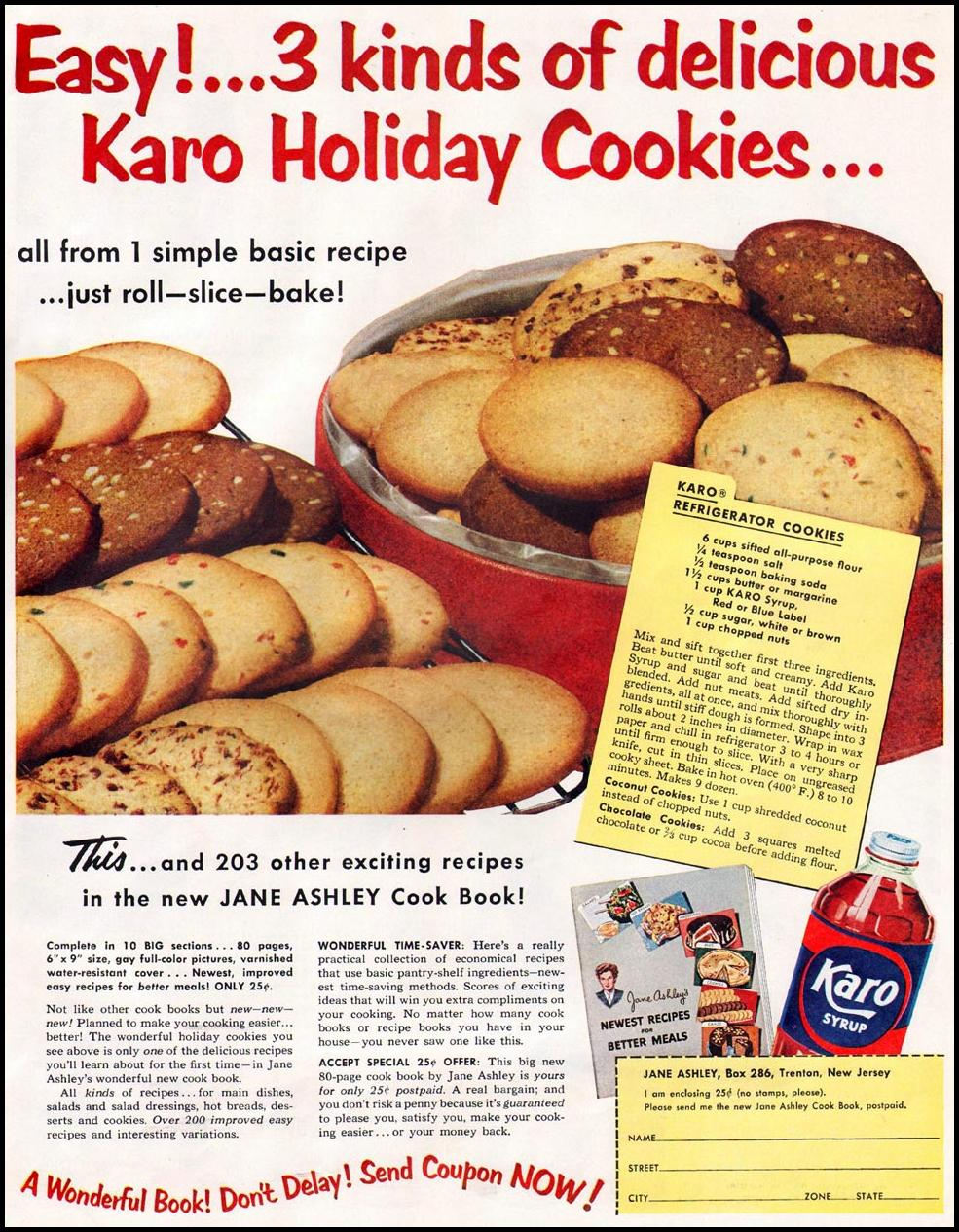 KARO SYRUP WOMAN'S HOME COMPANION 12/01/1952 p. 55