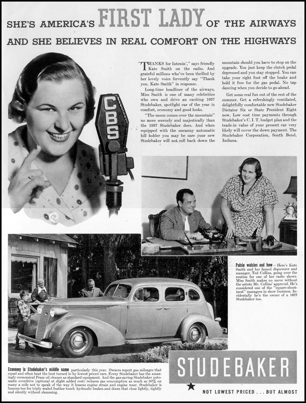 STUDEBAKER AUTOMOBILES LIFE 08/09/1937 p. 1