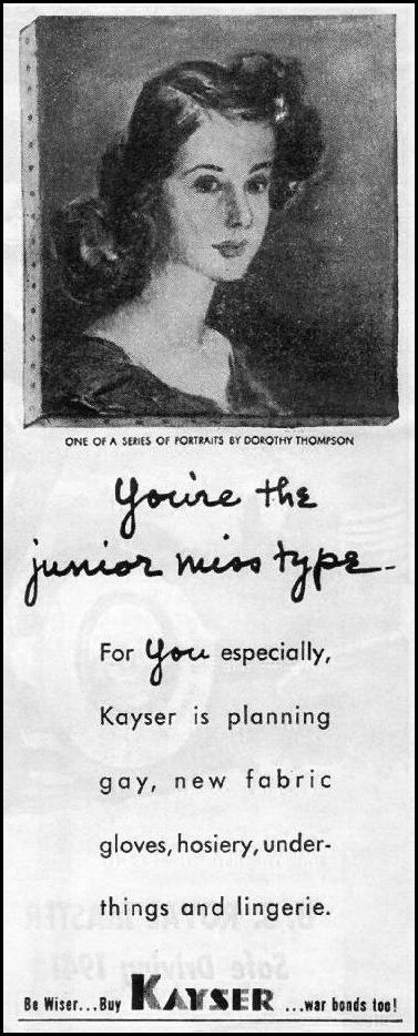 KAYSER HOSIERY LIFE 03/12/1945 p. 20