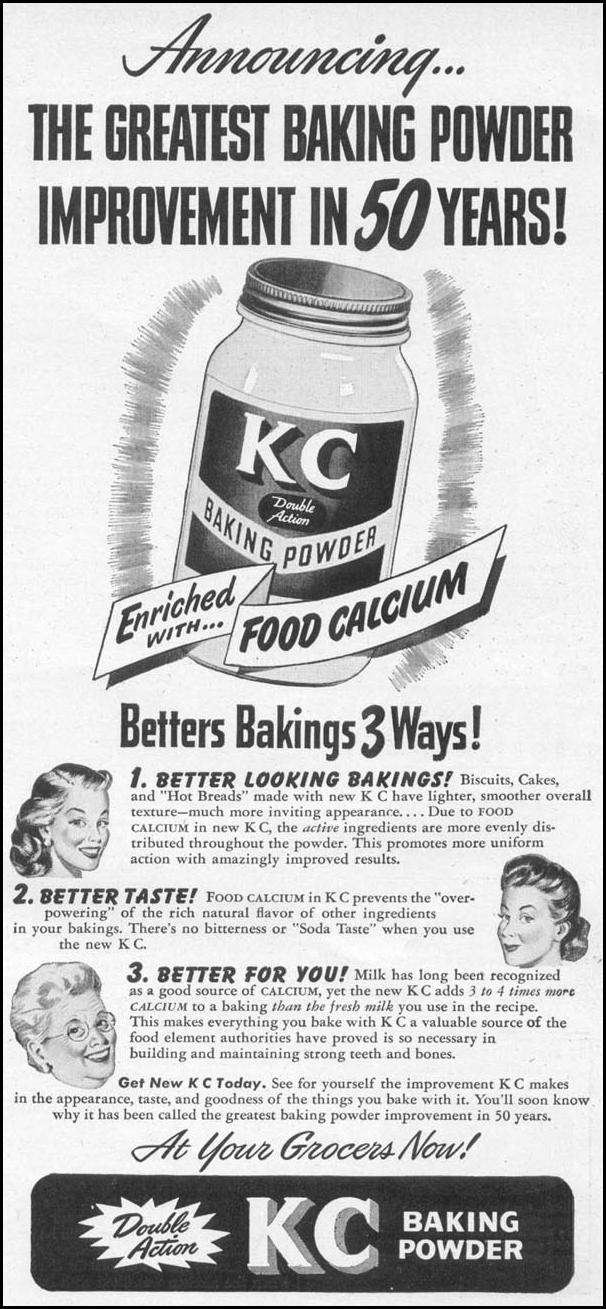 KC DOUBLE ACTION BAKING POWDER WOMAN'S DAY 06/01/1946 p. 81
