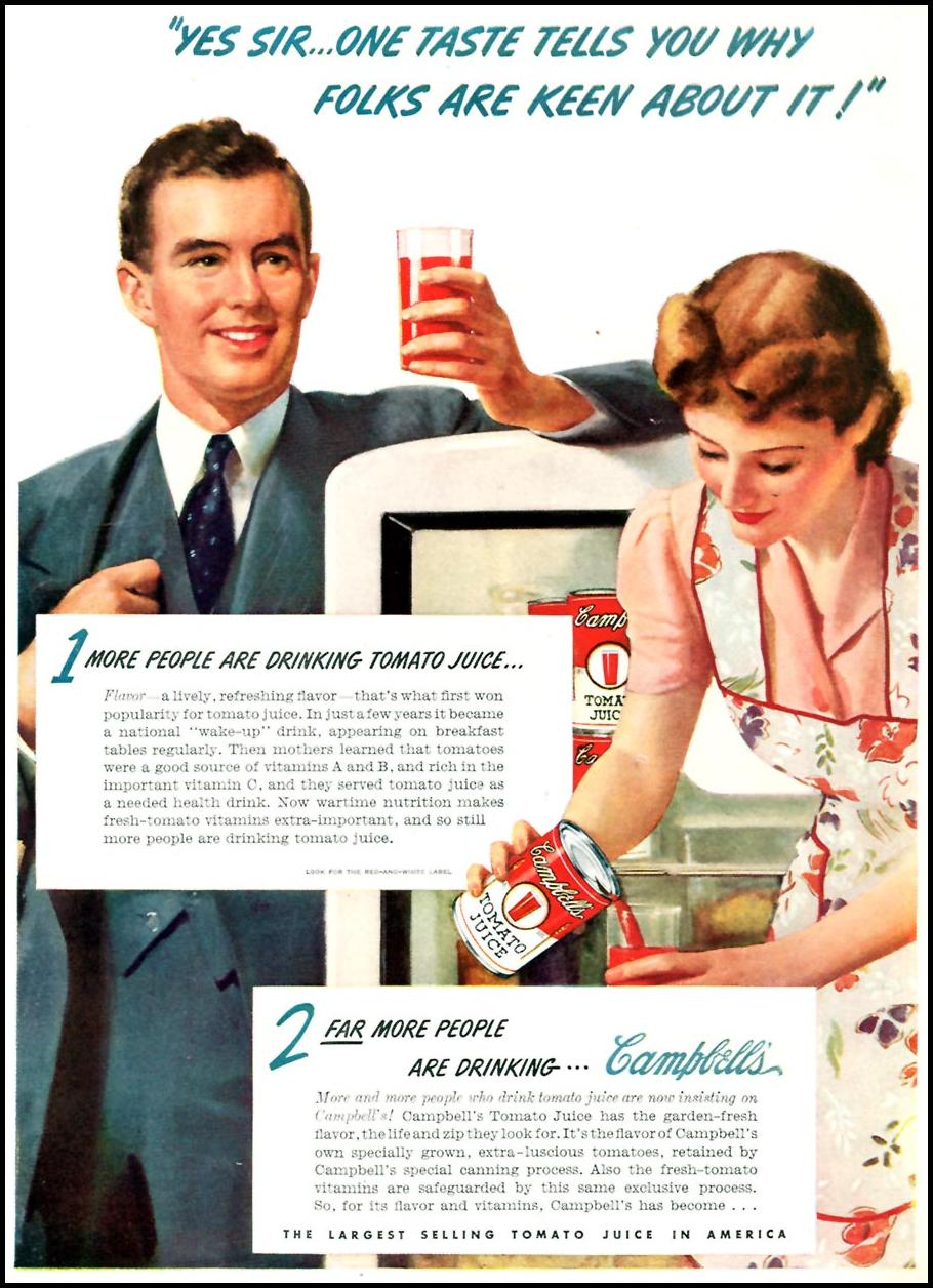 CAMPBELL'S TOMATO JUICE TIME 11/02/1942 p. 33
