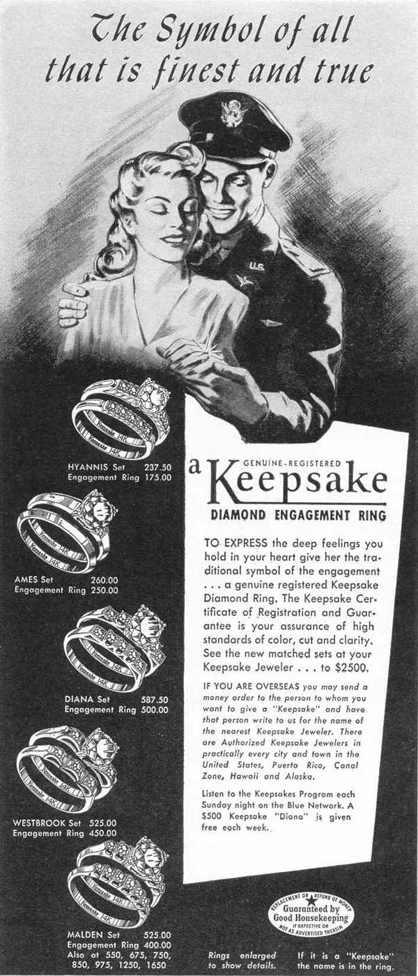 KEEPSAKE DIAMOND RINGS LIFE 02/14/1944 p. 19