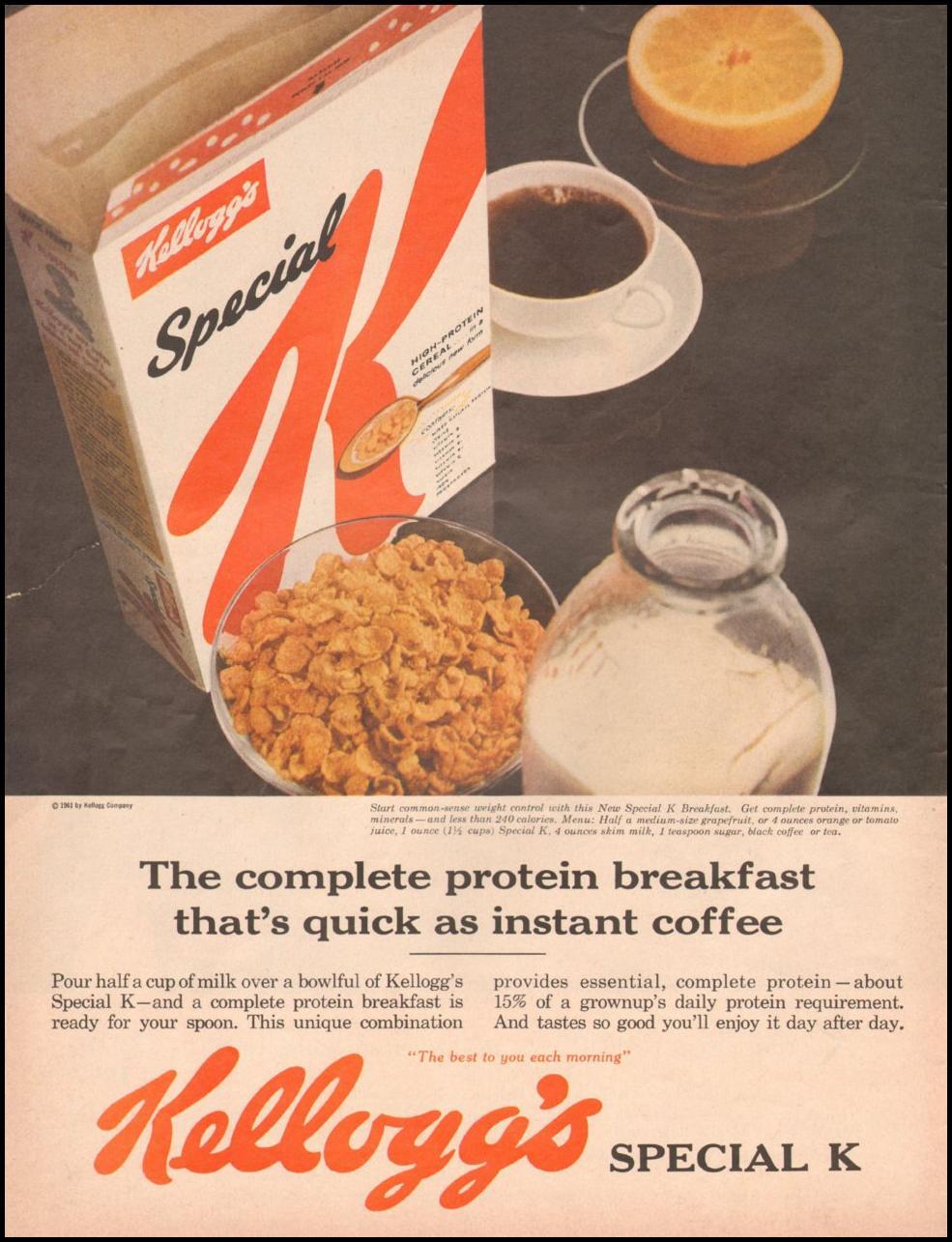 KELLOGG'S SPECIAL K LIFE 05/05/1961