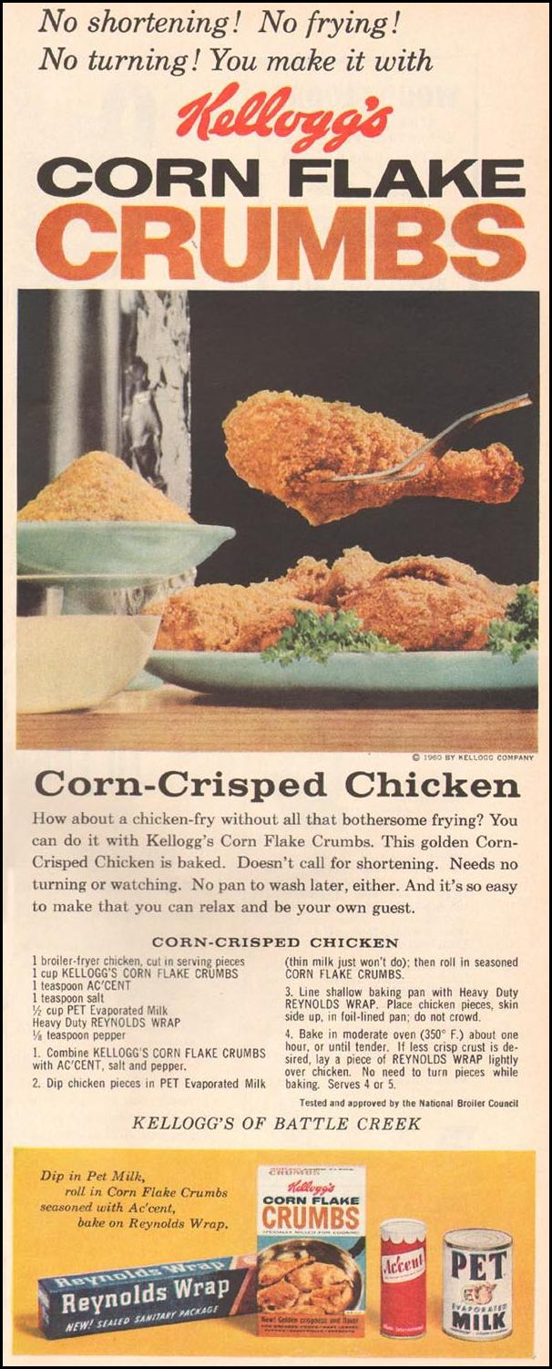 KELLOGG'S CORN FLAKE CRUMBS BETTER HOMES AND GARDENS 03/01/1960 p. 97