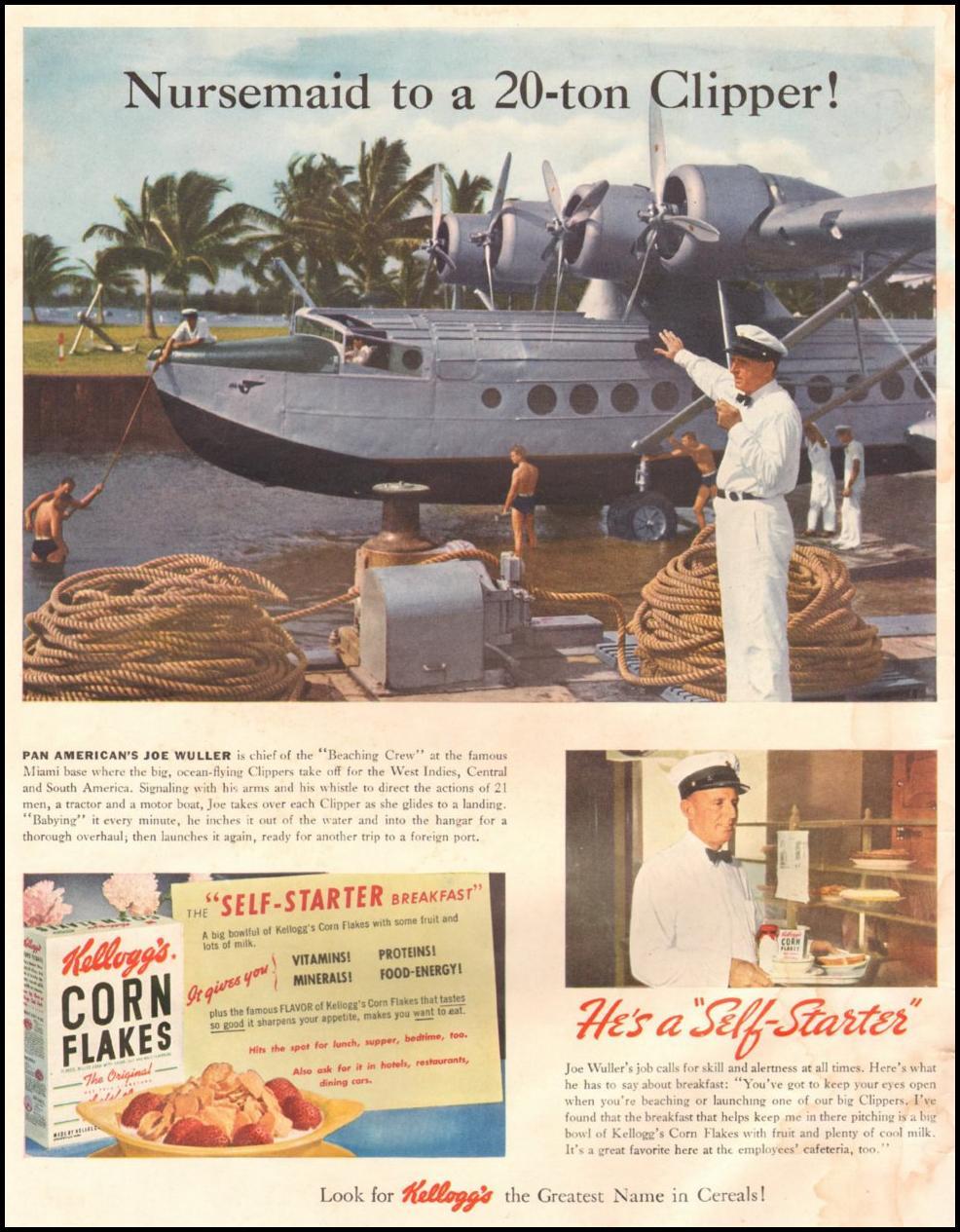 KELLOGG'S CORN FLAKES LIFE 06/22/1942 INSIDE FRONT