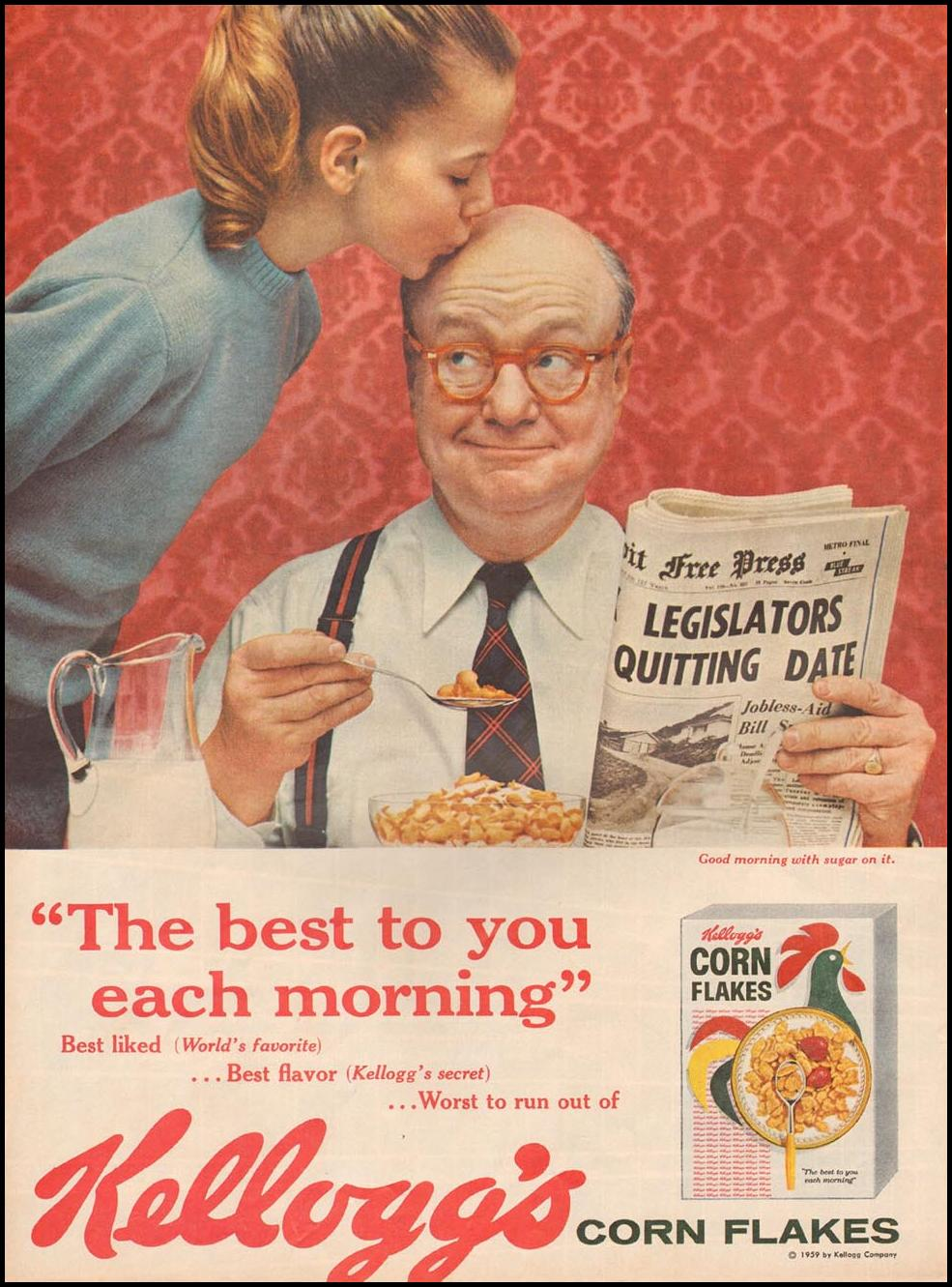 KELLOGG'S CORN FLAKES LIFE 08/10/1959