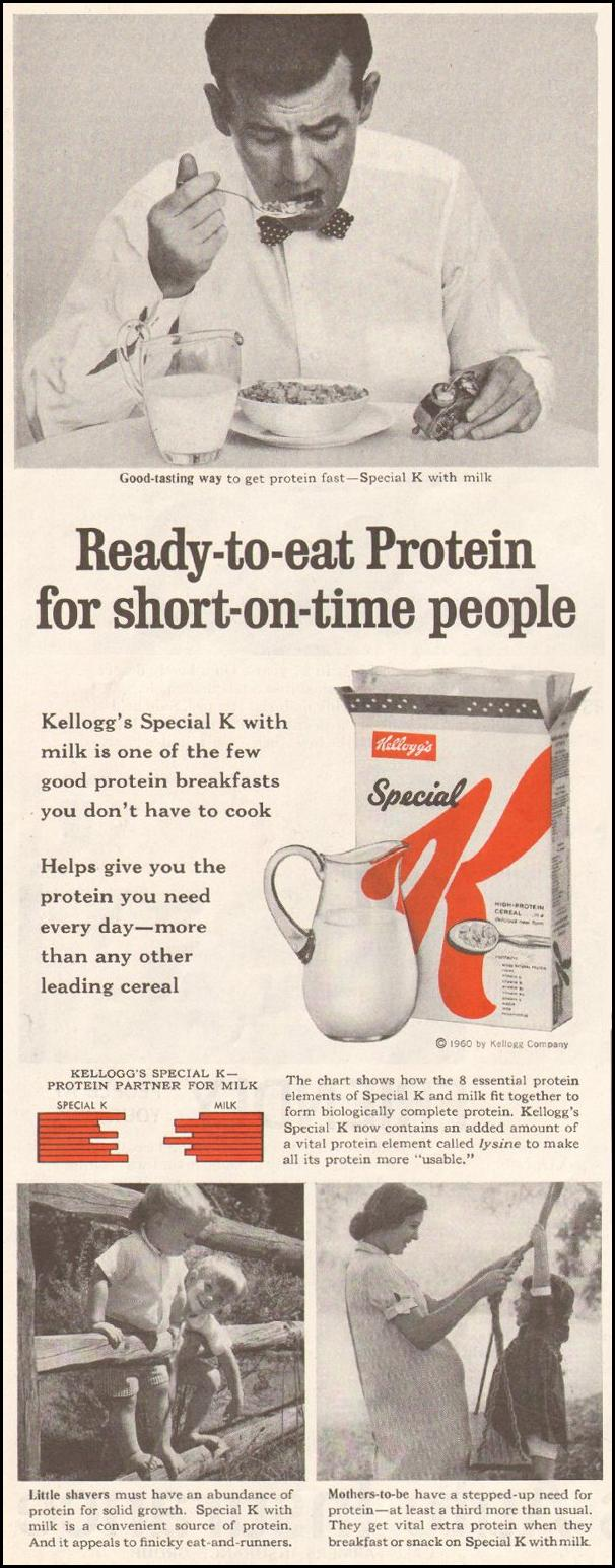 KELLOGG'S SPECIAL K SATURDAY EVENING POST 06/11/1960 p. 104