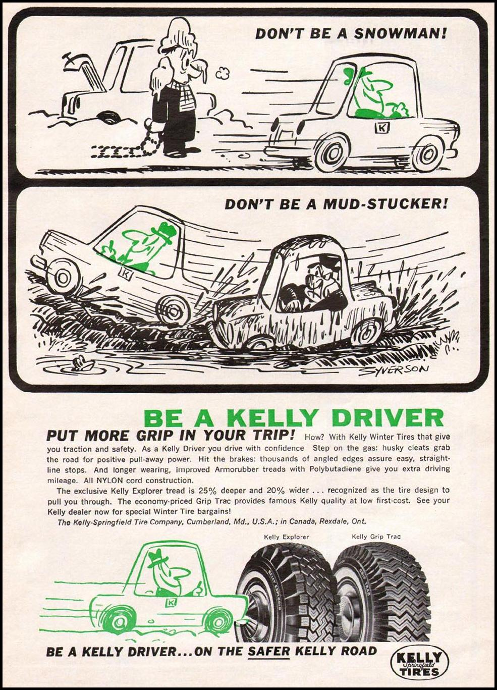 KELLY-SPRINGFIELD TIRES NEWSWEEK 10/12/1964 p. 115