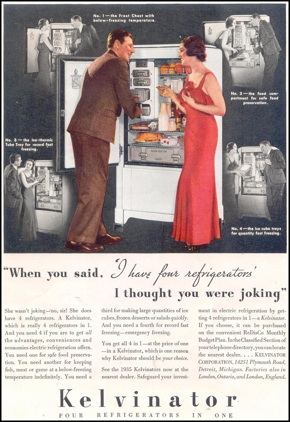 KELVINATOR REFRIGERATORS GOOD HOUSEKEEPING 03/01/1935