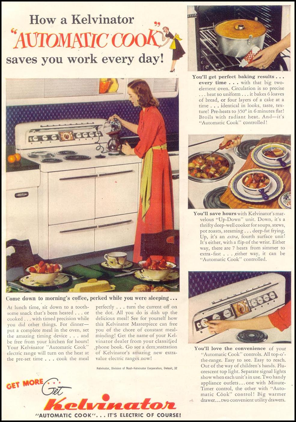 KELVINATOR AUTOMATIC COOK RANGE GOOD HOUSEKEEPING 07/01/1949