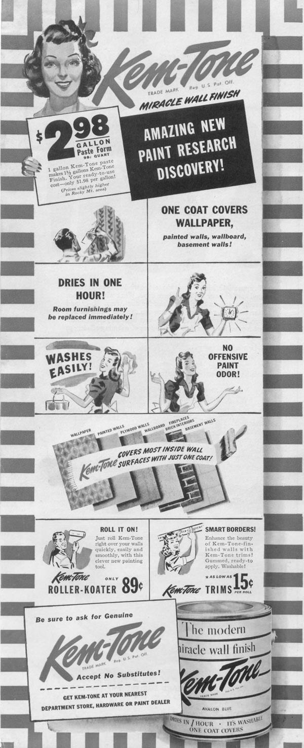 KEM-TONE PAINT PRODUCTS LIFE 11/02/1942 p. 120