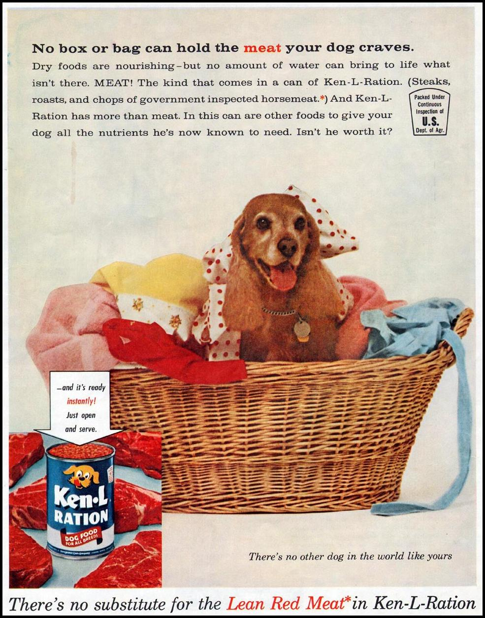 KEN-L-RATION DOG FOOD LADIES' HOME JOURNAL 06/01/1961 p. 22