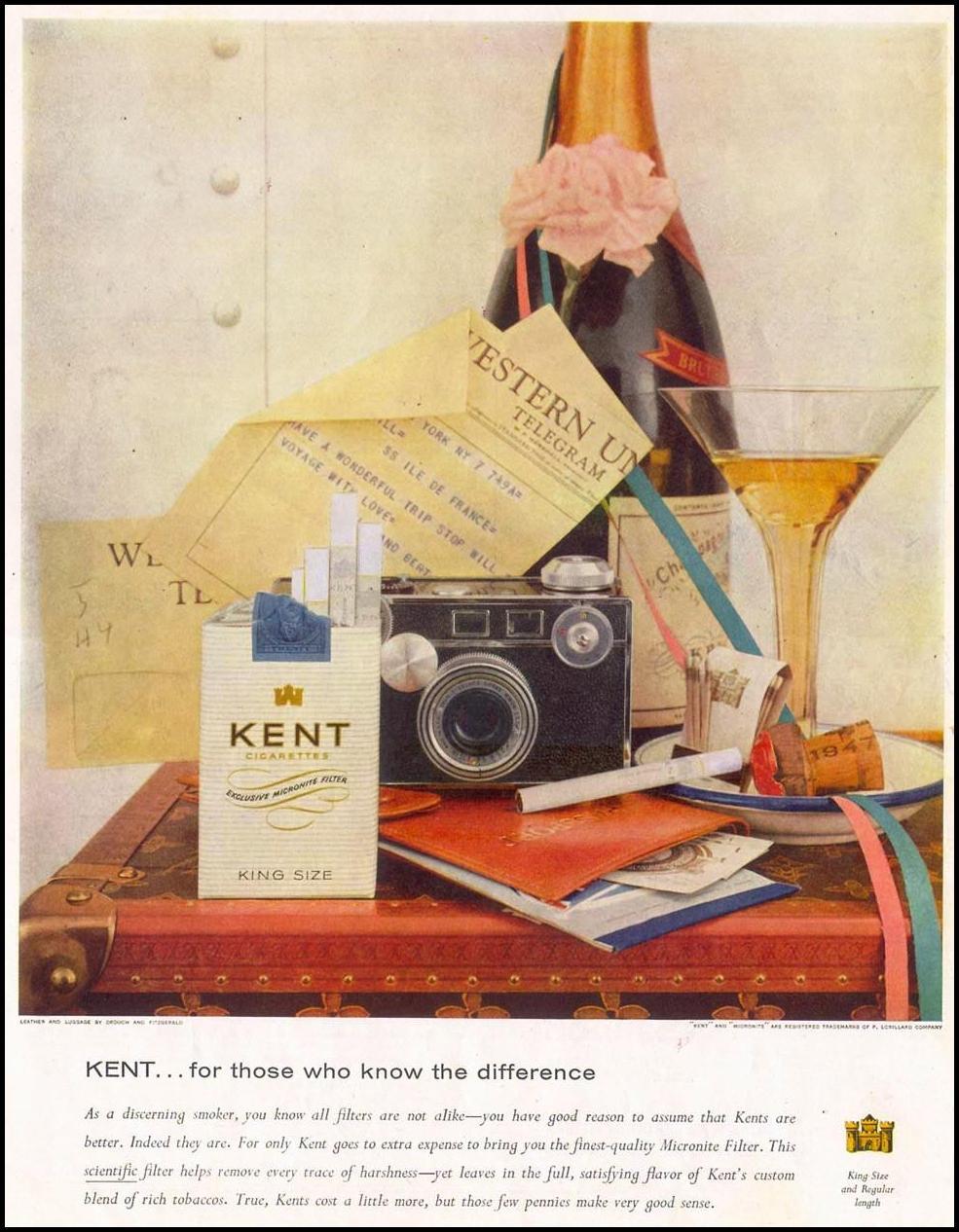 KENT CIGARETTES LIFE 10/29/1955 p. 55
