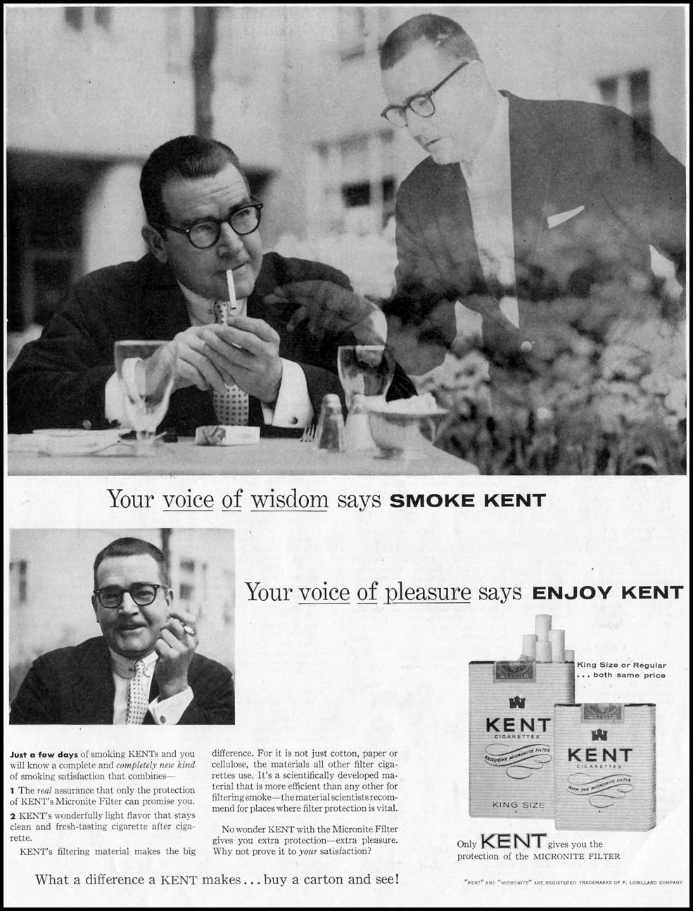 KENT CIGARETTES SATURDAY EVENING POST 06/04/1955 p. 55