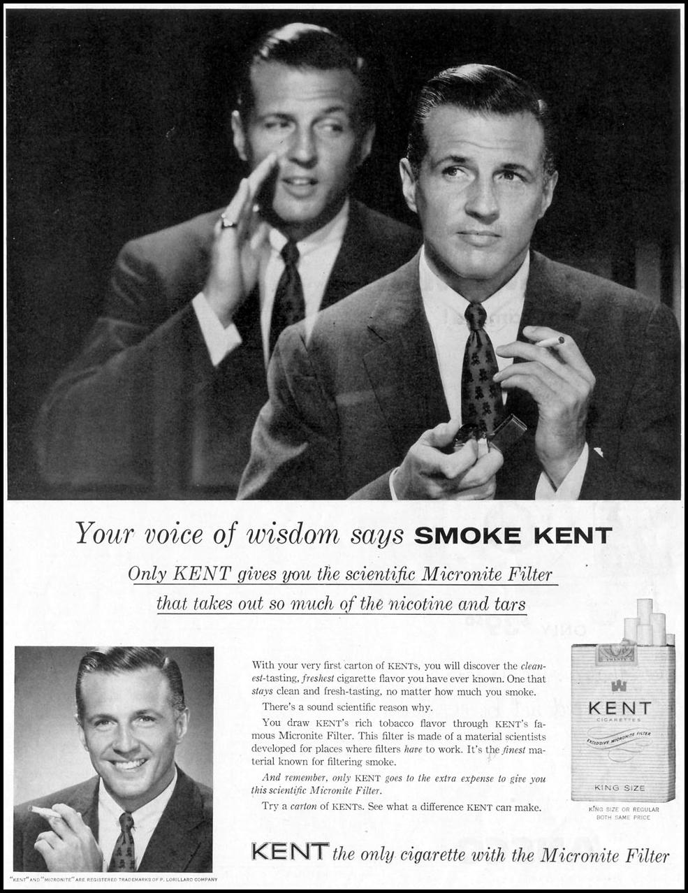 KENT CIGARETTES SATURDAY EVENING POST 07/23/1955 p. 61
