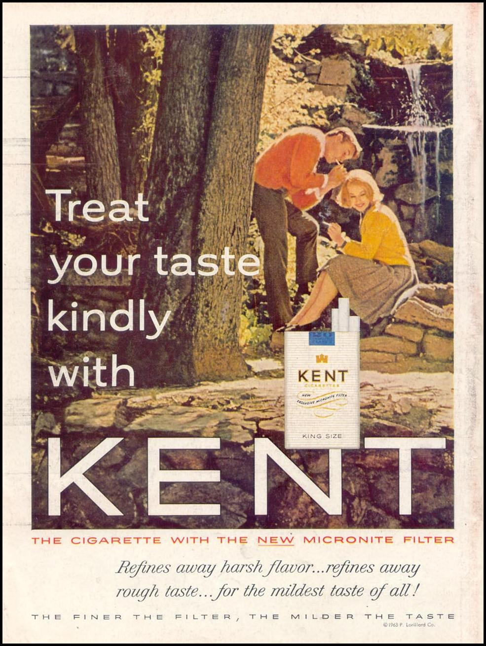 KENT CIGARETTES TIME 05/24/1963 BACK COVER