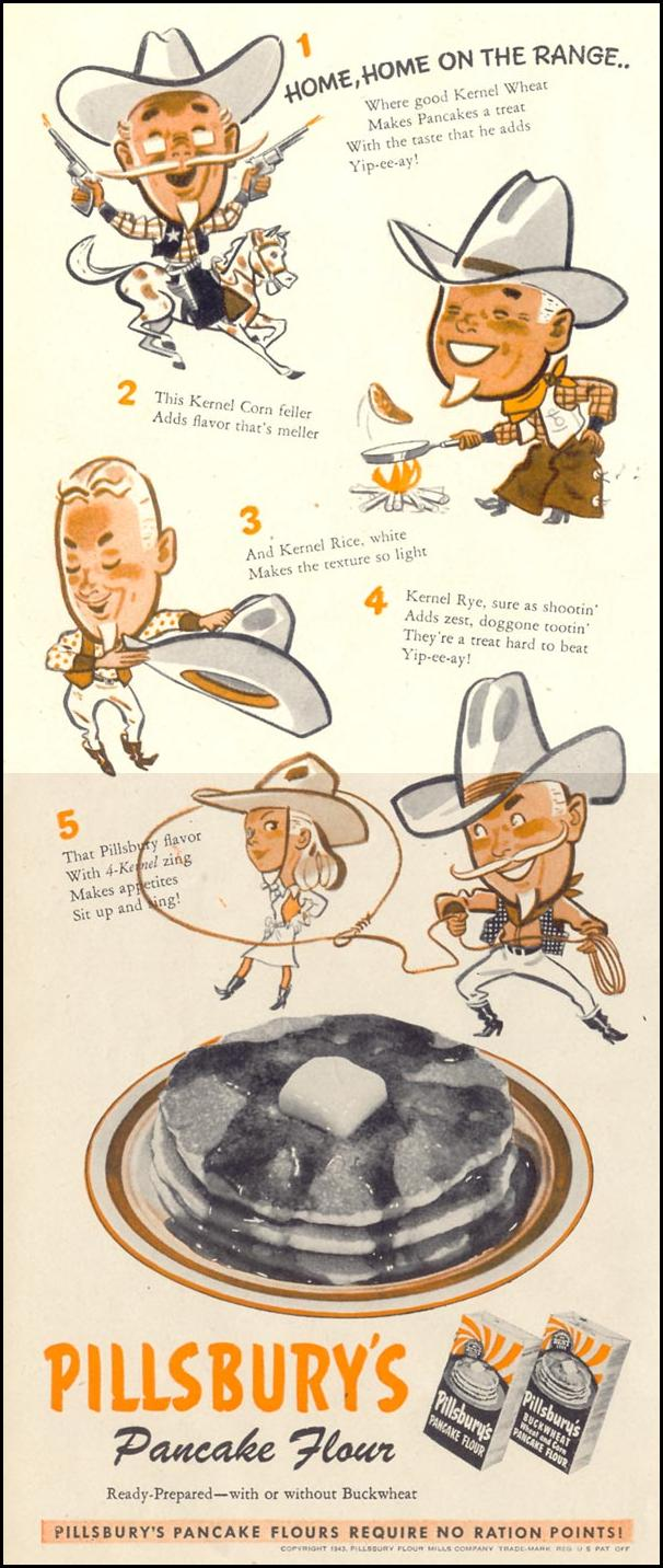 PILLSBURY'S PANCAKE FLOUR LIFE 11/08/1943 p. 54