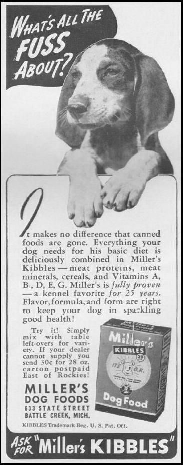MILLER'S KIBBLES DOG FOOD LIFE 06/22/1942 p. 83