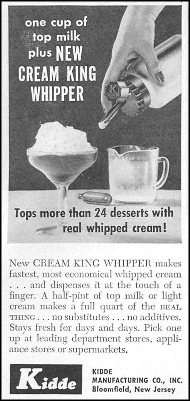 CREAM KING WHIPPER WOMAN'S DAY 04/01/1956 p. 112