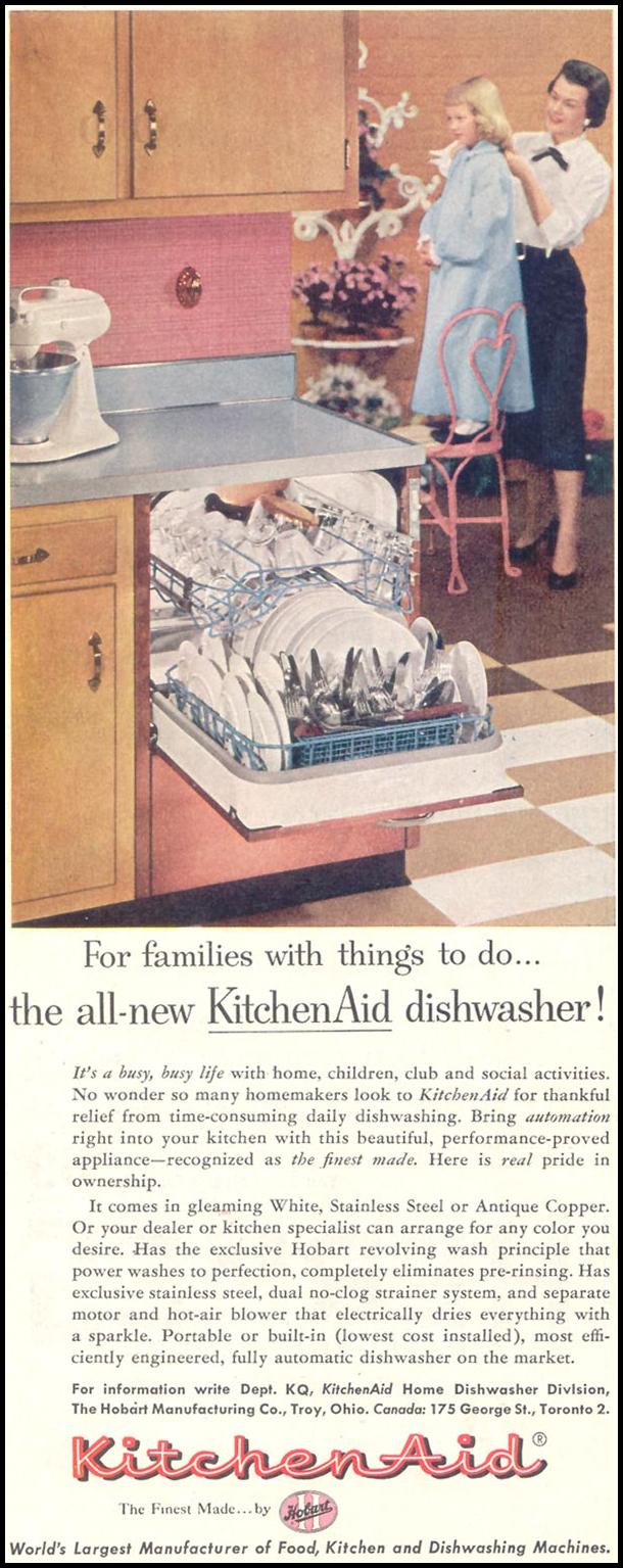 KITCHEN AID DISHWASHERS SATURDAY EVENING POST 10/29/1955 p. 120